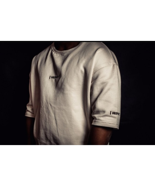 Embroided Logo Oversized Sweatshirt // Cream